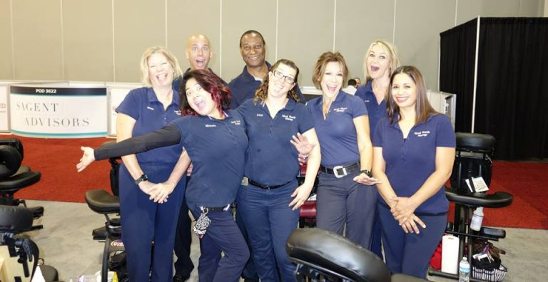 Hired Hands Las Vegas therapists at work