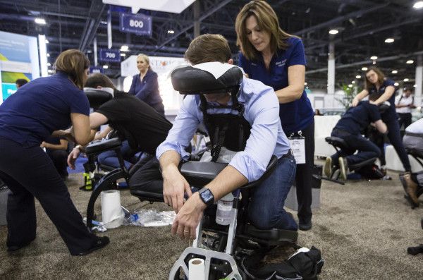 Chair Massage at a Las Vegas Convention