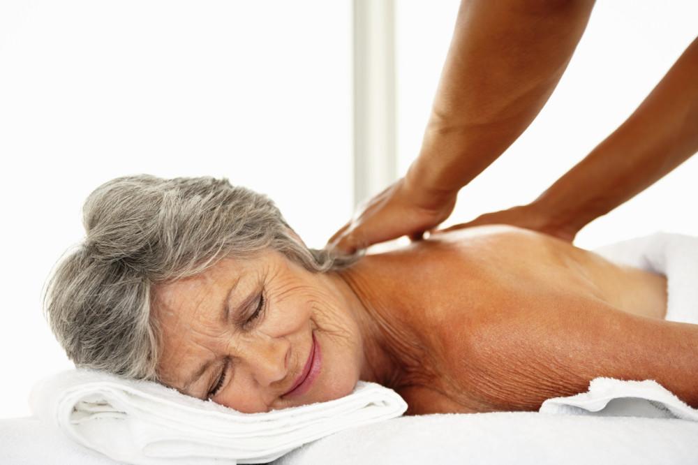 Senior Woman Massage Las Vegas Hired Hands